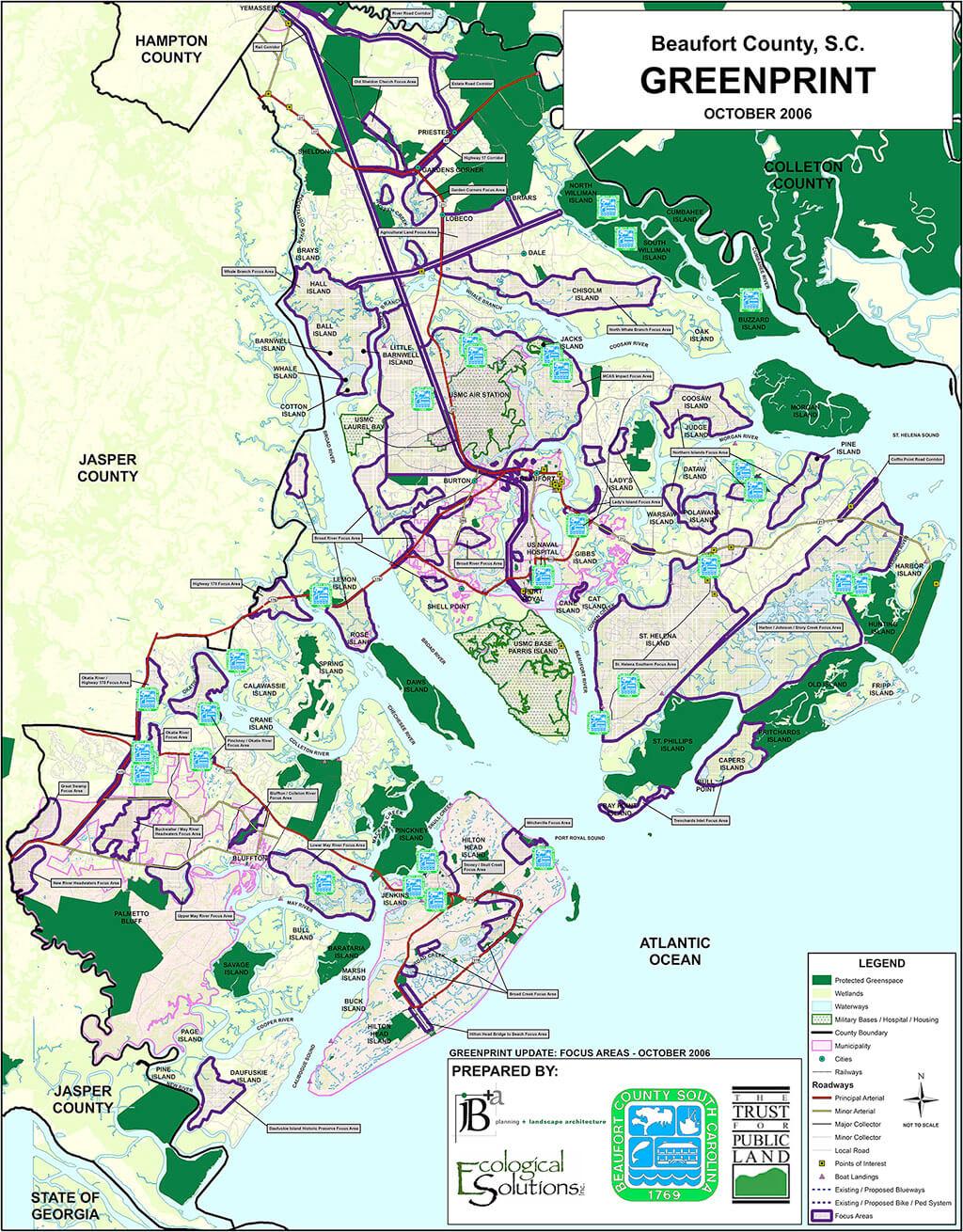 2006-Beaufort County Greenprint-Map
