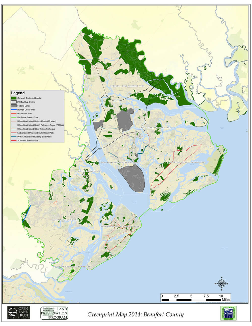 Beaufort-County-Currently-Protected-Properties Map