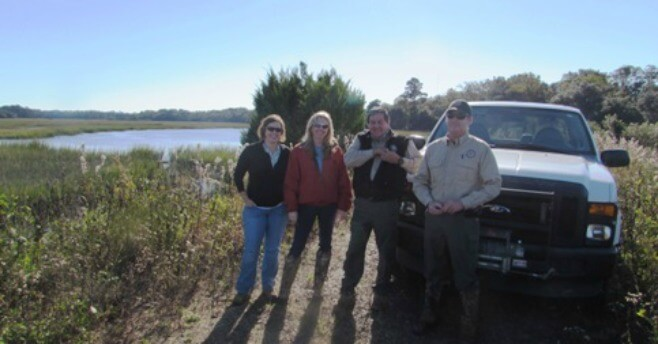 Lisa Lord, John Gobel, Mike King and Amanda Flake at McLeod Plantation.